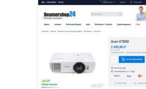Acer: Zwei neue UHD-Beamer mit HDR
