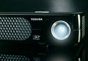 Preiswerter Einsteiger Beamer: der Toshiba TDP SP1