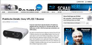 Sony VPL ES 7 Beamer