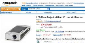 LED Micro Projector MPro110 - der Mini Beamer Foto: Amazon.de
