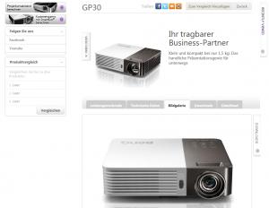 Kompakter BenQ GP30 soll mit Mobilität, Multimedia-Konnektivität und Wireless Display überzeugen