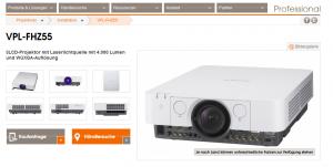 Zwei Laserprojektoren von Sony